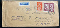 1941 Lisbon Portugal Airmail Registered Cover To Marseille France