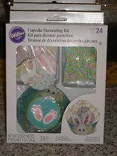 Wilton EASTER BUNNY Cupcake Decorating kit 24 liners/24 picks/sprinkles