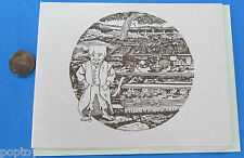 NOTE CARD - Tolkien - Lord of the Rings - Bilbo Birthday Party '84 vintage