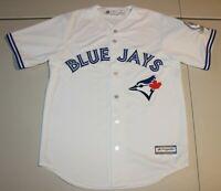 MLB Toronto Blue Jays 40th Season Anniversary Patch Sewn Jersey Medium Majestic