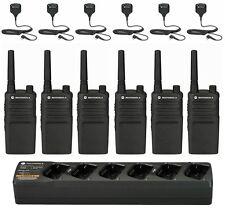 6 Motorola RMU2040 Radios. Remote mics & Bank Charger + Rebate for Free Radio