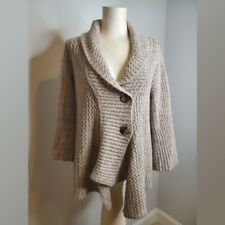 J. Jill Sweater Jacket alpaca blend neutral color long cardigan button front