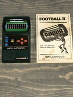 Vintage 1978 Mattel Electronics Football 2 Hand Held Game - Working- Hong Kong