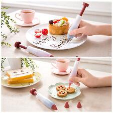 Silicone Decorating Icing Piping Syringe Writing Pen Fondant Cakes Cookie Nozzle