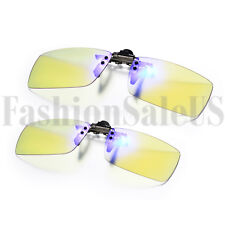 Readig Glasses Anti Blue Light & Anti bloque irradian juego de computadora Clip Gafas