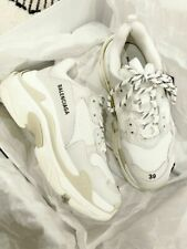 TRIPLE S WHITE TRAINERS SNEAKERS RUNNING SHOES SPORTS Shoes EU 35 -- 45