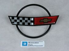 NEW 1984-1990 C4 Corvette Nose Hood Emblem - Metal GM Restoration Parts