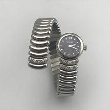 Estate Eberhard & Co Desiree Stainless Steel Diamond Stretch Band Watch