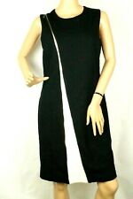 Alfani Womens Sheath Dress Black White Color blocked Zipper Size 6