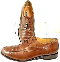 Johnston Murphy Dress Oxford Mens Size 11 M Brown Apron Toe Lace Up Shoe 15-0160