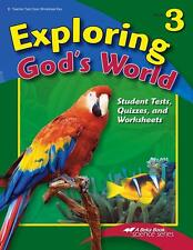 A Beka Exploring God's World Quiz, Test, and Worksheet Key - 3rd Grade