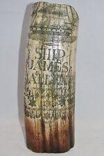 """Scrimshaw Faux Whale Tusk Resin c.1830 SHIP JAMES ALLEN  8.5"""""""