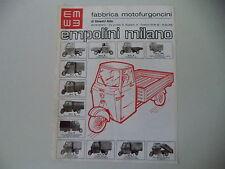 advertising Pubblicità 1975 MOTOFURGONI MOTOCARRO EMPOLINI  D/L/M/N/P/G/H/I/R/NU