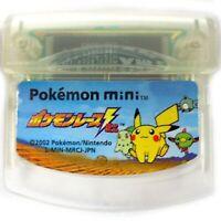 Pokemon RACE Mini Game No Box Game Cartridge ONLY USED