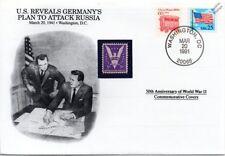 La segunda guerra mundial 1941 nos revela el plan para atacar Rusia Alemania Sello Cubierta (Danbury Mint)