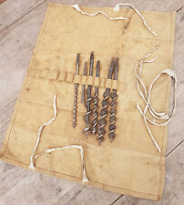 WW2 Issued 1944 British Auger Drill Bits Tool Roll Stamped Dated Etc Reenactment