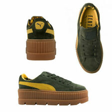 Puma Fenty By Rihanna Cleated Creeper Lace Up Suede Women Trainers 366268 01