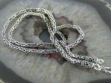Königskette das Original 3mm 45cm Massiv Silber 925 viereck Balikette Balichain