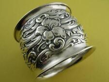 Sterling ART NOUVEAU Floral NAPKIN RING ornate ~ Dewitt