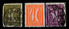 German Stamps 1921 -  Daily Stamps   Set of 3 Stamps/  Cancelled Cairo Post Mar