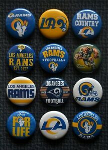 Los Angeles Rams - 1 1/2 Inch Buttons - Set of 12