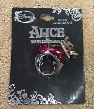 Disney Alice In Wonderland Red Queen Heart Adjustable Ring New With Tags!