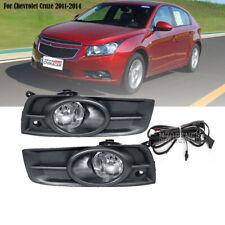 Fog Light Kit w/ Switch Wires Bulb Cover For Chevrolet Cruze 2011 2012 2013 2014