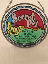 Small Round Secret Pal Thinking Of You Prayer Butterfly Themed Suncatcher