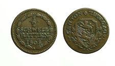 pci3498) Swiss  SCHWYZ  -Thurgau, 1/2 Batzen 1808 billon