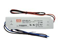 Mean Well LPV-60-12 LED Strip Tape Driver Transformer IP67 Waterproof 60W 12V DC