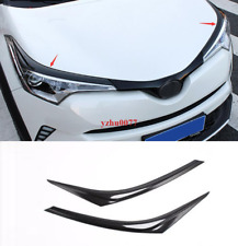 2016-2019 For Toyota C-HR ABS Carbon Fiber Front head light Eyebrow cover trim*2