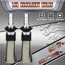 H7 LED CREE CSP Headlight Bulbs Kit 3000K 4300K 6000K Fanless High or Low Beam