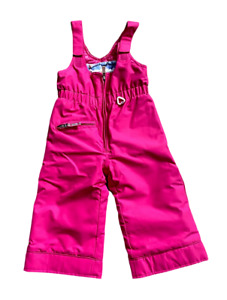 Obermeyer Toddler Girls Pink Snoverall Insulated Bib Pants Size 2 I-grow Extend