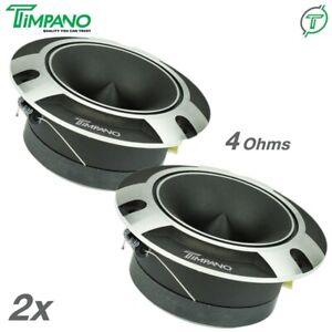 "2x Timpano TPT-ST2 Chrome Bullet 4"" Pro Super Tweeter 4 Ohm Titanium 500 Watts"
