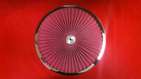 """New 14"""" Super Flow Filter Top Air Cleaner Chrome Washable Filter RPC R2230"""