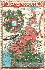 1950 Craste Pictorial Map of Cameroon