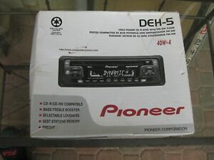 PIONEER DEH-5, HIGH POWER CDPLAYER W/AMFM, 40WX4 SUPER TUNER
