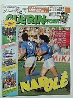 GUERIN SPORTIVO 38-1989 MARADONA NAPOLI GORNIK MALMOE SPORTING LISBONA +FILM