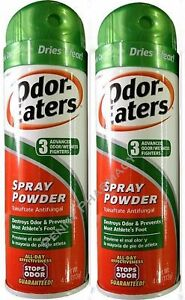 Odor-Eaters SPRAY POWDER 4 oz for Foot & Sneakers ( 2 pack )