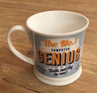 #1 Computer IT Genius History & Heraldry Porcelain Diner Style Coffee Mug
