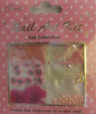 """Nail Art Kit 08"" 3D  Set  dekoration  Blumen- Perlen - Strass - Sterne ...TOP"