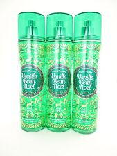 Bath Body Works 3 Vanilla Bean Noel Fragrance Mist 8oz Body Splash Spray 2016