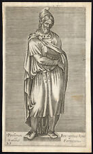 Antique Master Print-ROMAN-STATUE-PERSIAN KING-FARNESE-Anonymous-ca. 1600