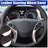 Leather Steering Wheel Cover for Hyundai Elantra 2011-2016 Avante i30 2012-2016