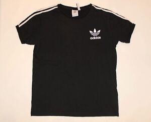 Adidas 3 stripe vintage black short sleeve round neck t shirt tee size XXL 2XL