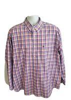 Wrangler Plaid Long Sleeve Mens Cotton Button Down Shirt Size XL Multicolored