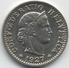 More details for 1927 b switzerland 20 rappen doubled b | pennies2pounds