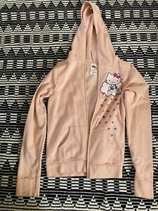 Hello kitty zip up sweater/hoodie size Large