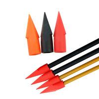 10pcs Soft Rubber Arrowheads Broadhead Archery Target Tips Game Points 6MM 8MM
