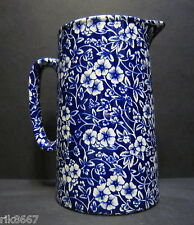Heron Cross Pottery Victorian Calico English Chintz 2 Pint Churn Jug